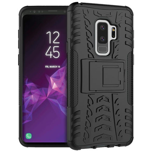 Dual Layer Rugged Tough Case for Samsung Galaxy S9+ (Black)